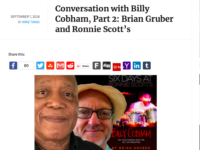 """Music Critic Mike Tiano Interview with Billy Cobham and Me: """"The Book Is Off the Hook"""""""